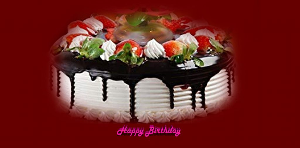 Happy Birthday Cake Image Red Colour