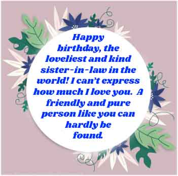 Birthday wishes for sister in law -Heart touching - Happy ...