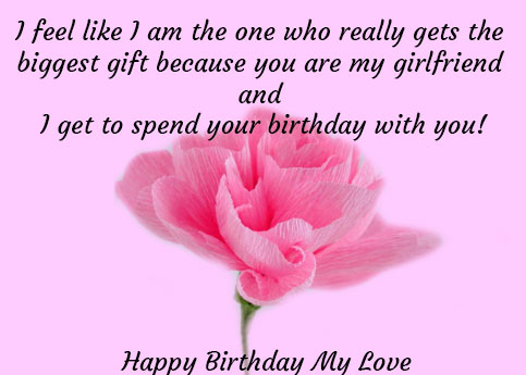 bday wishes for girlfriend