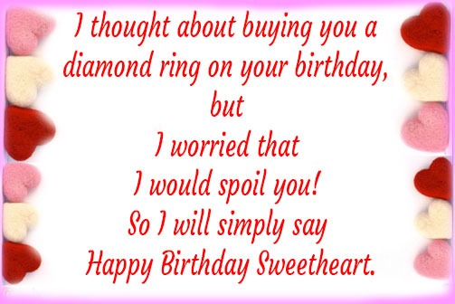 Romantic birthday wishes for girlfriend