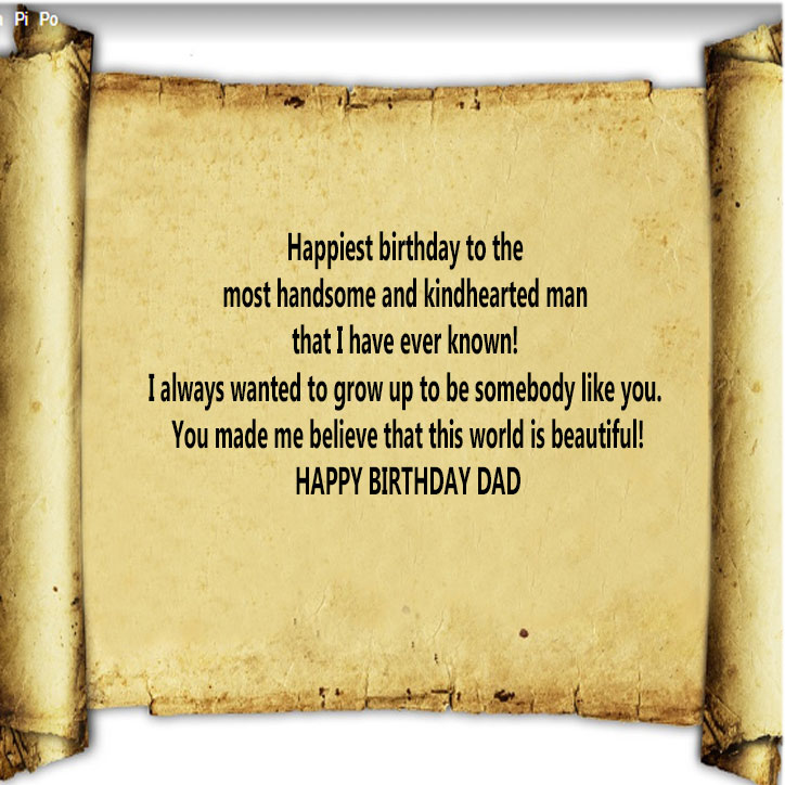Happy birthday dad images with messages for whatsapp