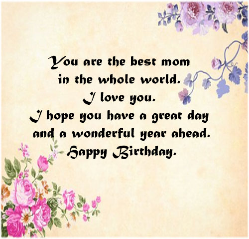 Happy birthday mom image wallpaper hd free download