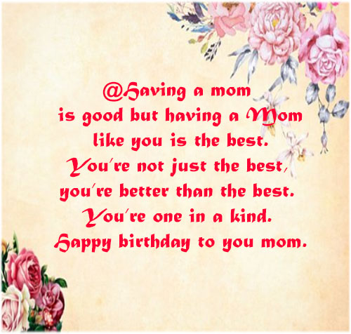 Happy birthday mom wishes images pictures