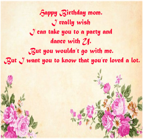Happy birthday mom wishes with pictures for free download