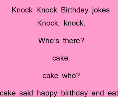 Birthday jokes for kids