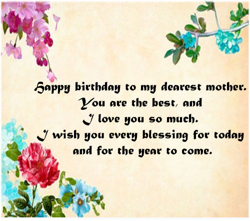 Happy birthday mom wishes with greeting card images