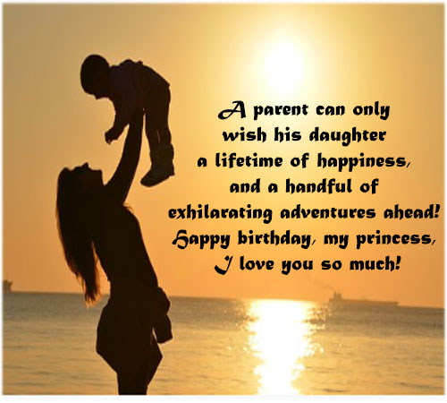 Birthday message images for Daughter girl