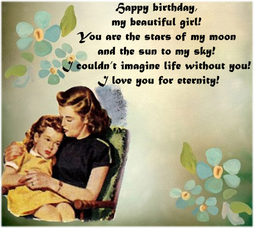 Birthday wishes images for Daughter girl
