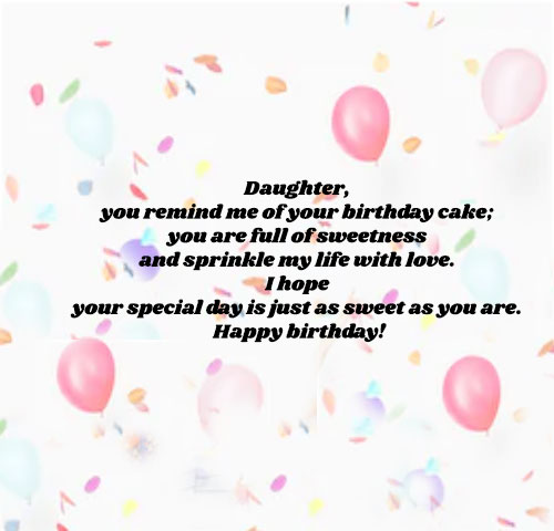 Birthday wishes message quote Image picture photo for daughter from dad