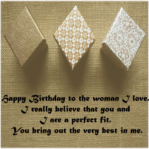 Birthday gift image greeting card for girlfriend lover