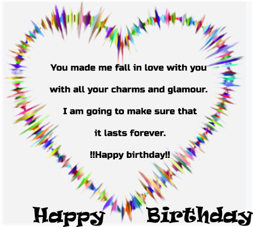 Birthday images for girlfriend with quotes