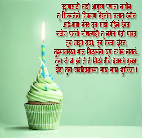 Birthday wishes status messages quotes  in marathi