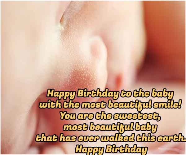1st Birthday Wishes for Baby Boy From Mother and Father