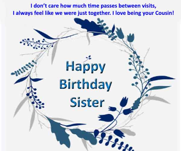 Best Birthday Wishes For Cousin Sister