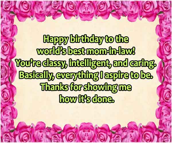 Birthday Message For Mother In Law