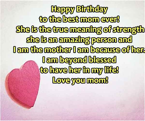 Birthday Quotes For Mom From S0n
