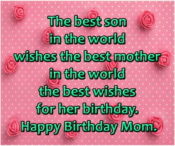 Loving Birthday Quotes For Mom