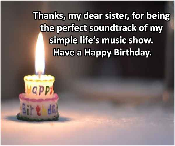 Whatsapp Status birthday wishes for sister