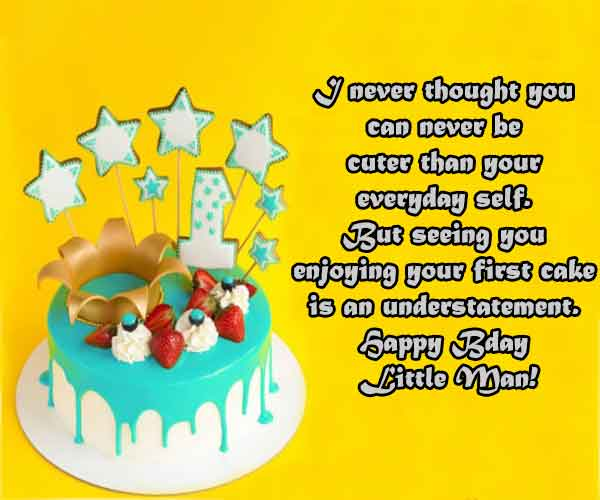 Birthday Quotes For Baby Boy
