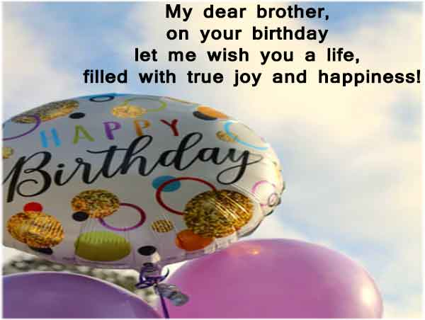 Best Birthday Message for Brother