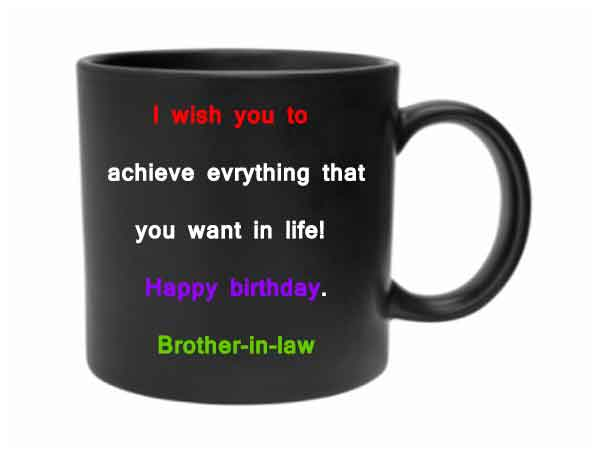 Happy Birthday Message for Brother In Law